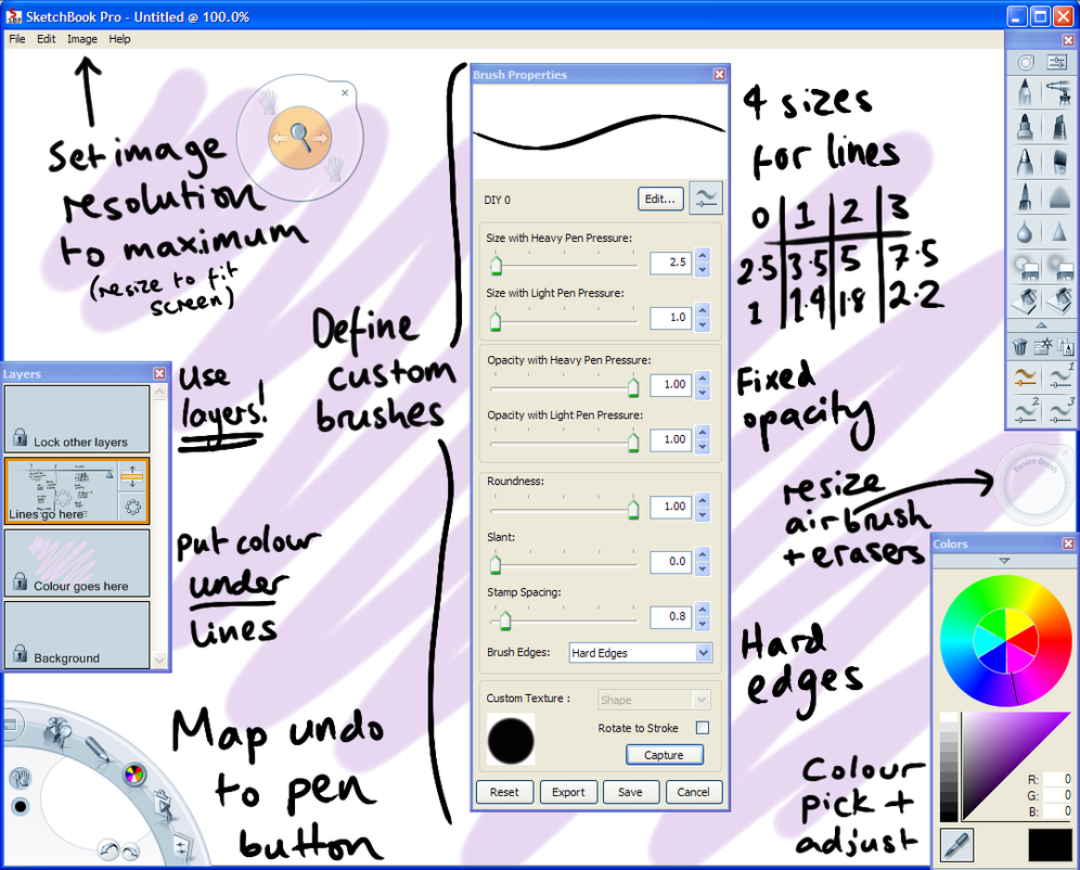 SketchBook Pro 2010 Tutorial by jinkies36