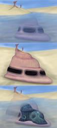 Spaceship Design Concept Art