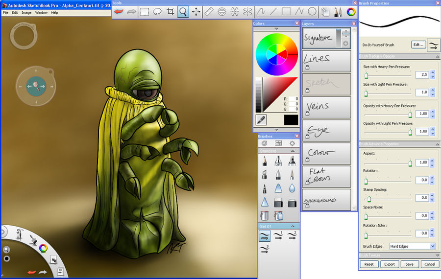 AutoDesk SketchBook Pro 2011 by jinkies36 on DeviantArt