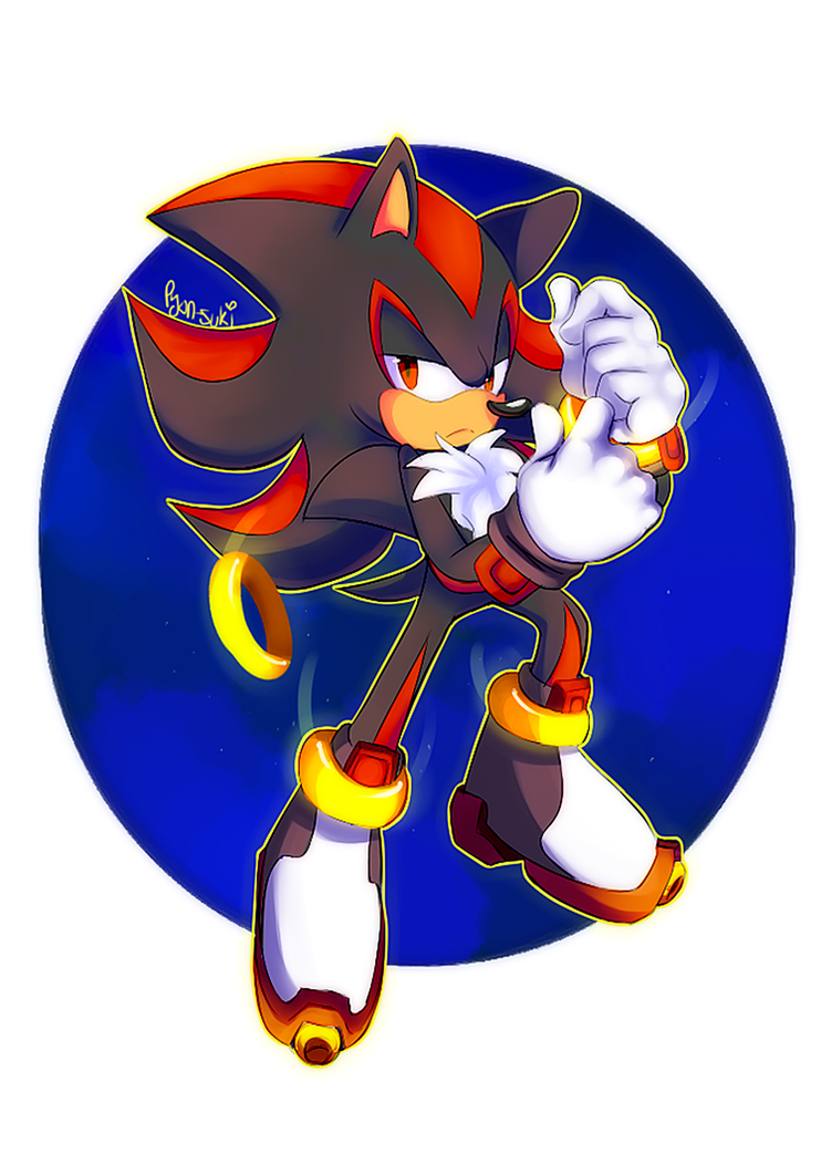 Shadow The Hedgehog by Pyon-Suki