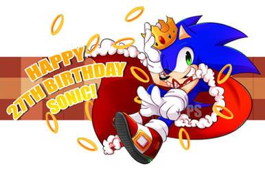 HAPPY 27th BIRTHDAY SONIC! by Pyon-Suki