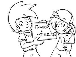 Xavier And Aaron Thank You by HEADCASEComics
