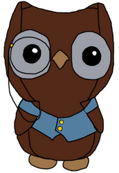 Cedric the owl drawing by Scimew