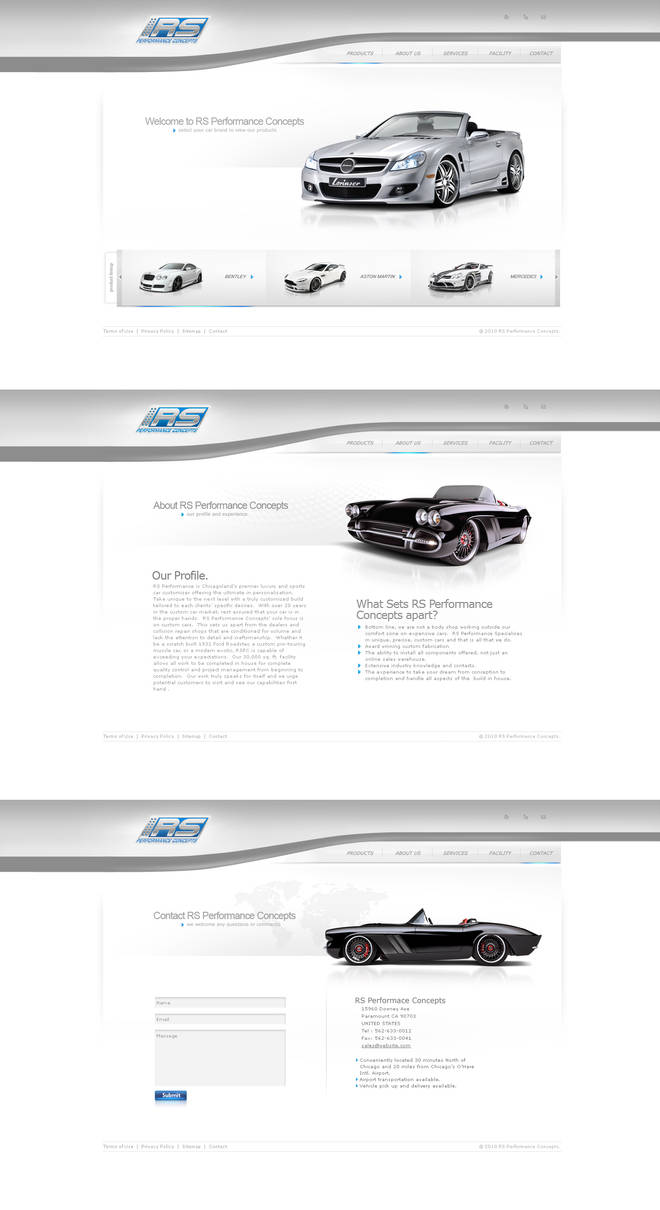 RS Performace Site by p3nx