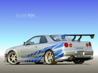 2F2F Skyline Vector by p3nx