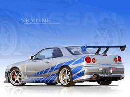 2f2f Skyline Vector Wallpaper by p3nx