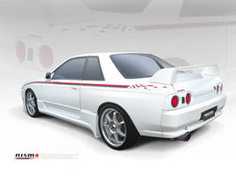 R32 Skyline Vector by p3nx