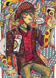 The Literal Pizza Guy by PerpetualPeep