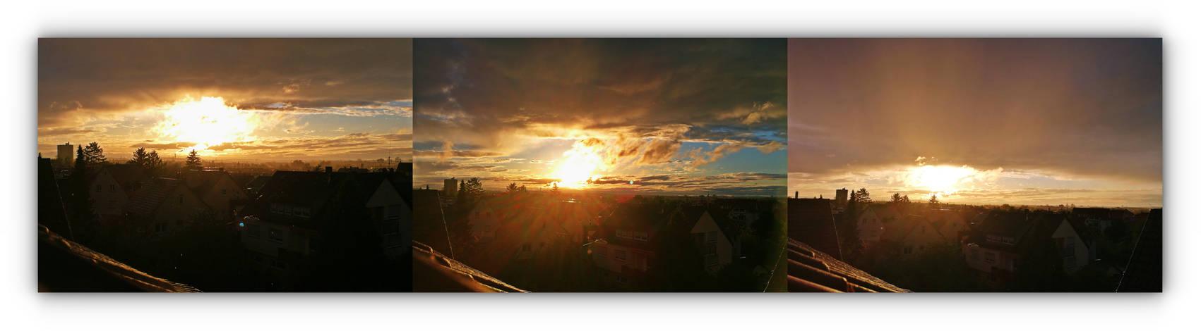 magical shimmering sunset
