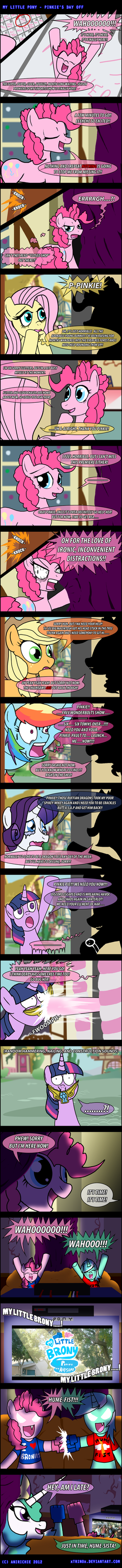 MLP: Pinkie's Day Off -COMIC- by AniRichie-Art