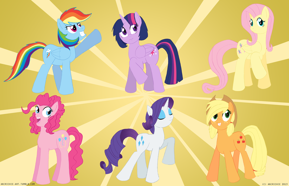 MLP Mane 6 Shipping adopts = Closed = by BlueFlowerAdopts on ...