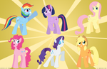 MLP - Mane 6 Style Redesigns