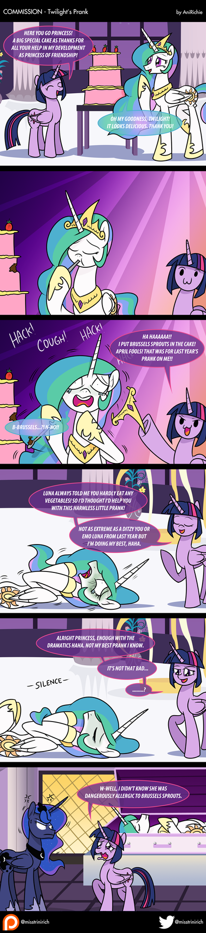 COM - Twilight's Prank (COMIC) by AniRichie-Art