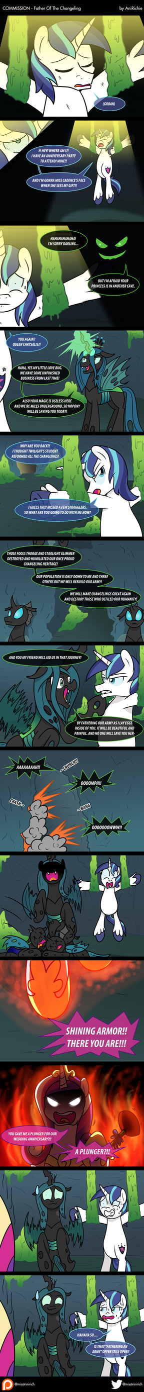 COM - Father Of The Changeling (COMIC) by AniRichie-Art