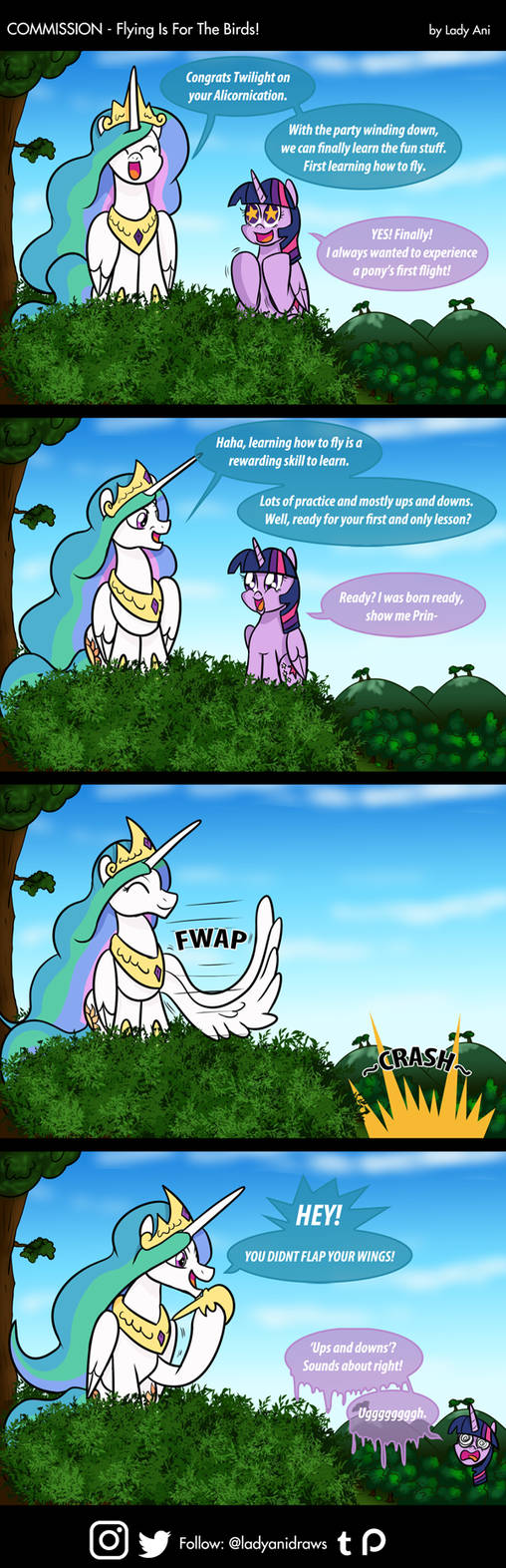 COM - Flying Is For The Birds (COMIC) by LadyAniDraws