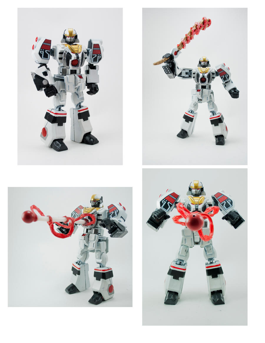 'Retrofire' MMPR White Tiger Megazord by puzzledperplexity