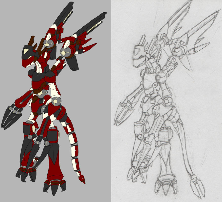 dragon robot by l2ebelli0n on deviantart