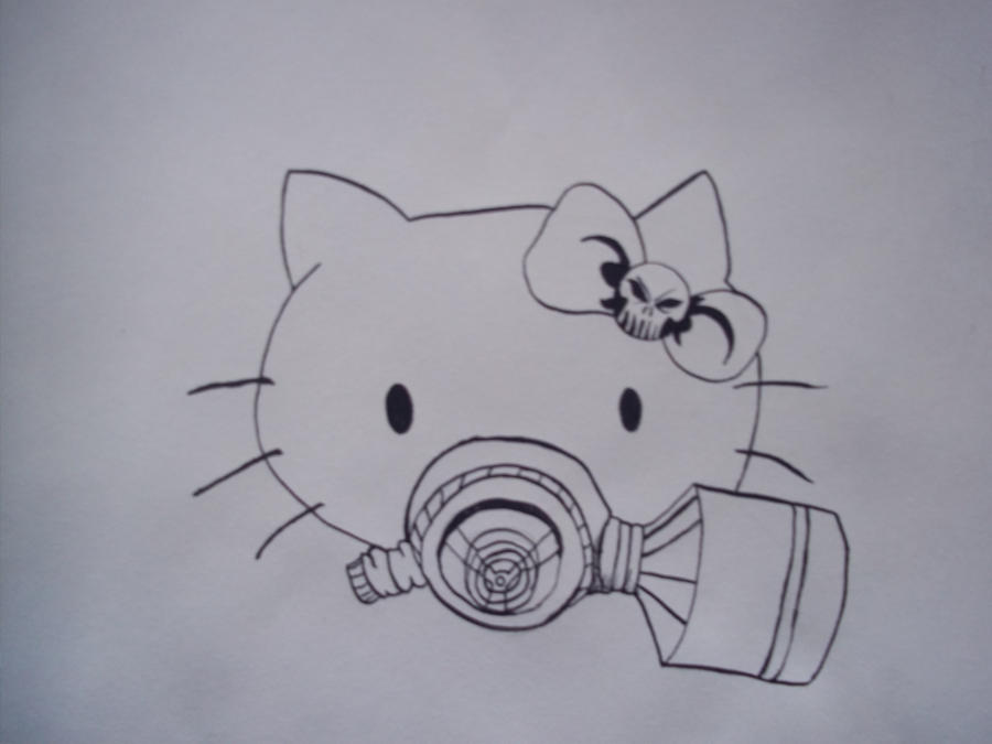 052684aa2 Hello kitty with gas mask by Guishama on DeviantArt