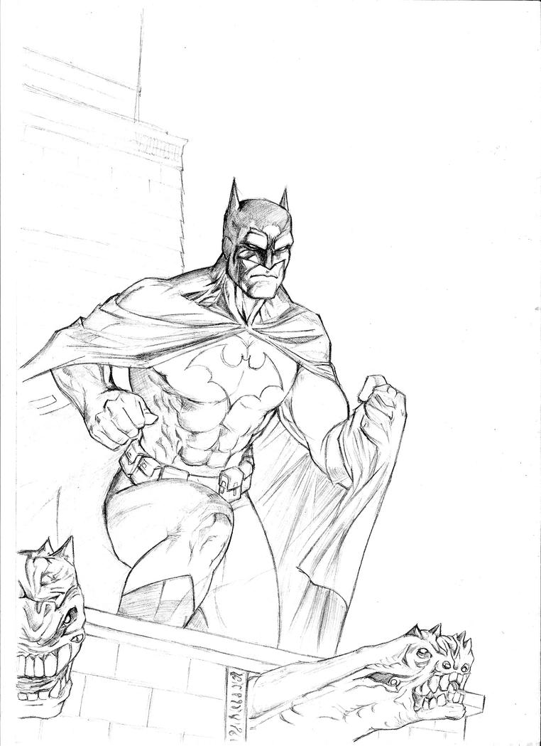 The Dark Knight Pages Coloring Pages