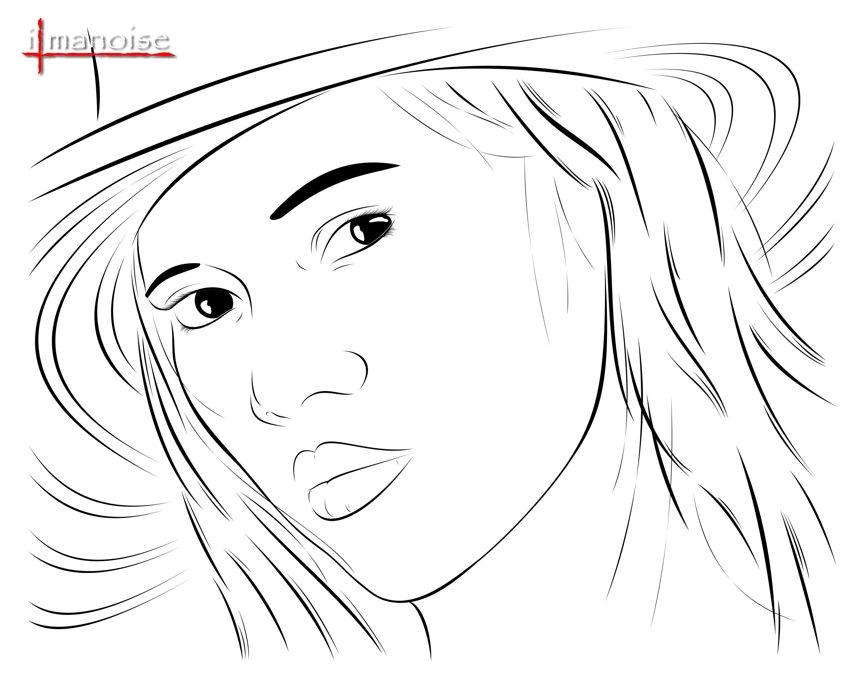 Line Art Face : Vector face line art by ilmanoise on deviantart