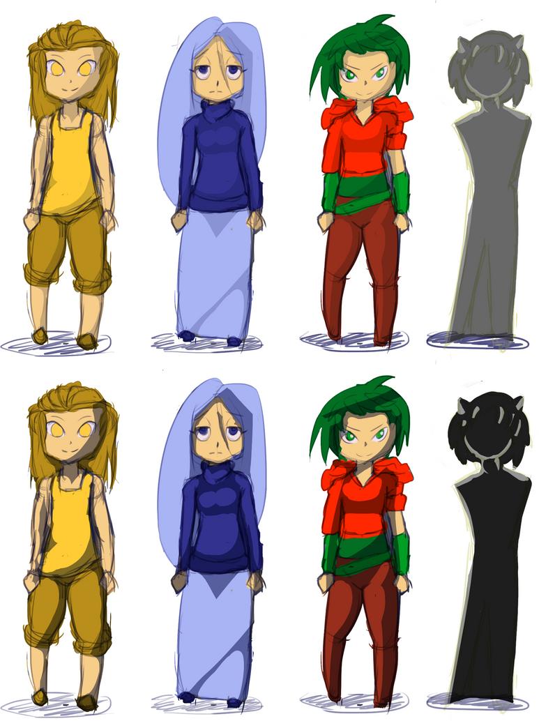 Chibi designs by Tsukuart