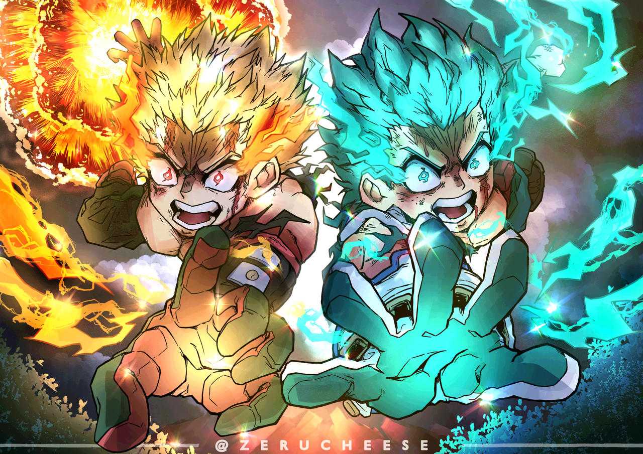 Bakugou and Deku Heroes Rising