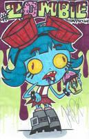 Frida Suarez Zombie Frap - justDEF [FanArt] by justD3F