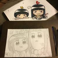 Pop Team Sisters - justDEF [OCs] by justD3F