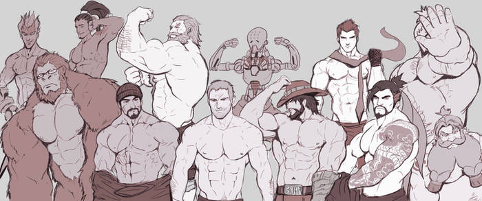 Overwatch Blokes: Shirtless Version