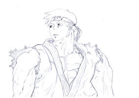 Ryu - Street Fighter Sketch by leozer