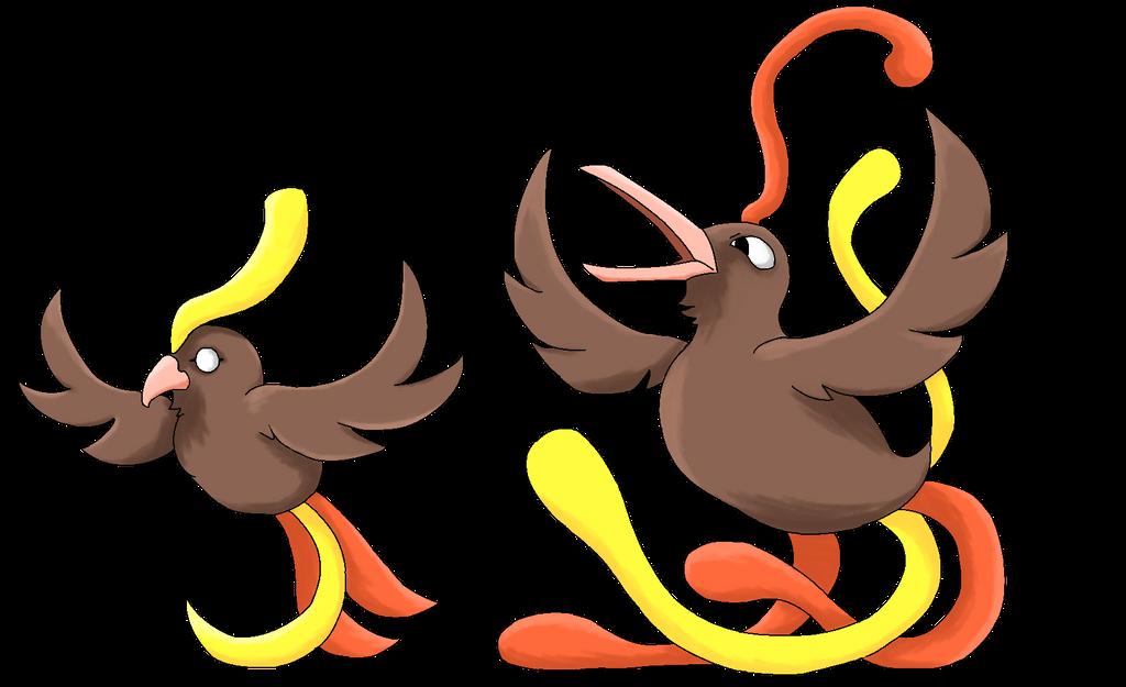 Pokemon Topaz - Feathrow and Ferald by Aurora-Xatu