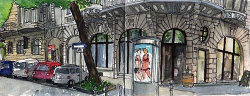 Urban Sketch - Dortmund, Kaiserstrasse