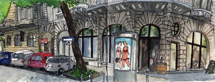 Urban Sketch - Dortmund, Kaiserstrasse by GrindGod