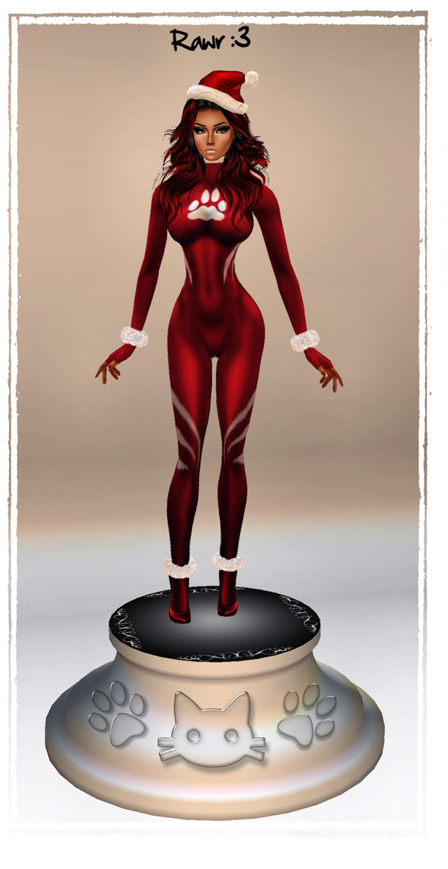 Ms.Meow: X-Mas Kitty CS_Statue Avi :3 by LaraLuvsMe
