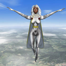 X-Men: Storm_Soaring in the Clouds by Darc4ssass1nCMD