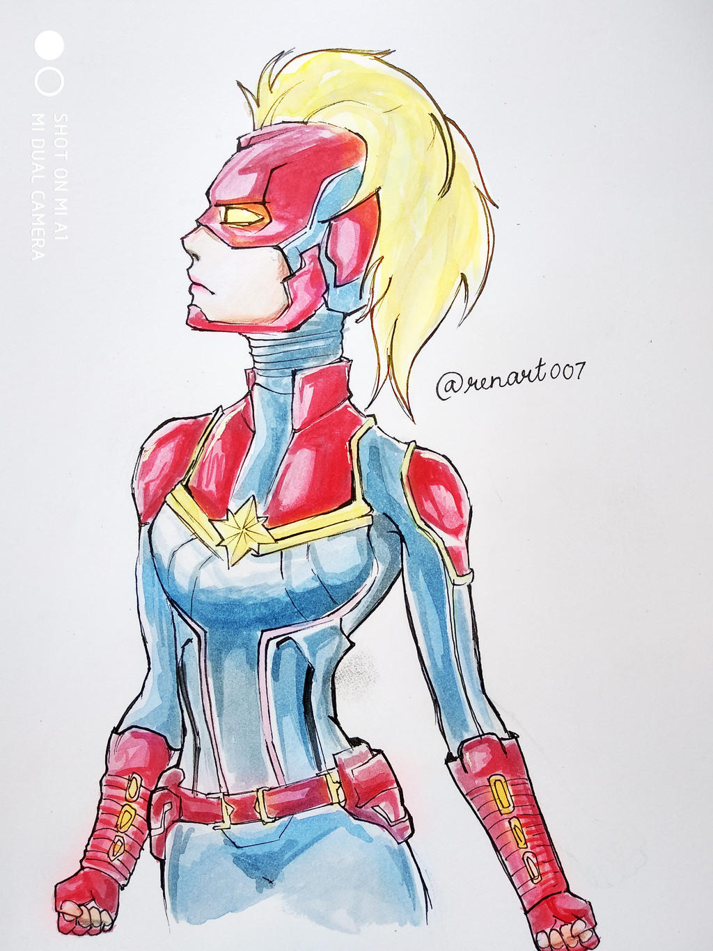 Captain Marvel By Mayursingh007 On Deviantart Captain marvel is a believer in truth and justice but also fights between the aggressiveness and quick tempered character that is within her. deviantart