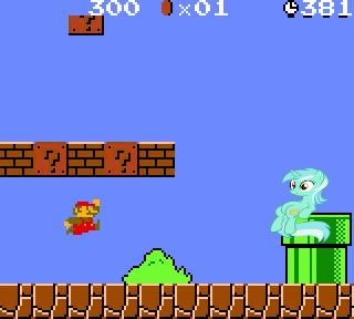 Lyra in Super Mario Bros by RainbowDash28