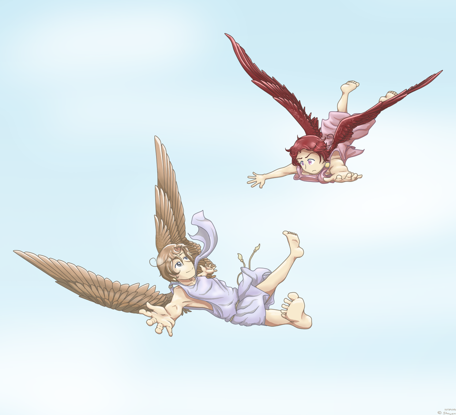 2P APH: Winged brothers by Shewen
