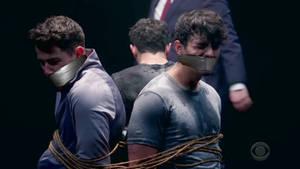 Nick and Joe Jonas gagged