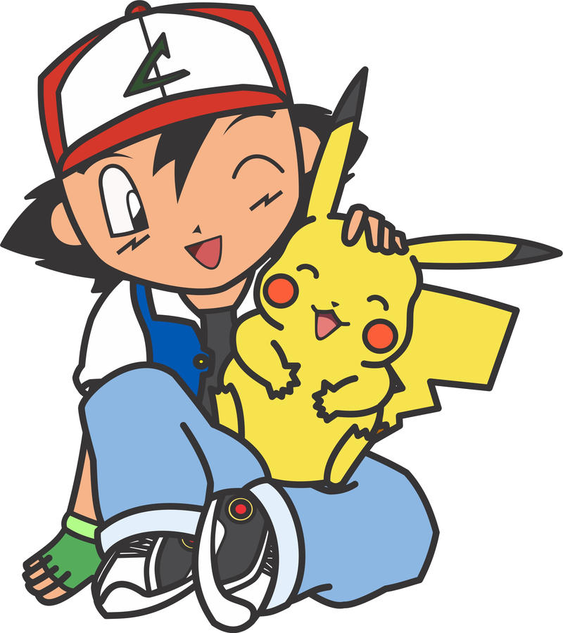 Chibi Ash And Pikachu By Mtsukishiro