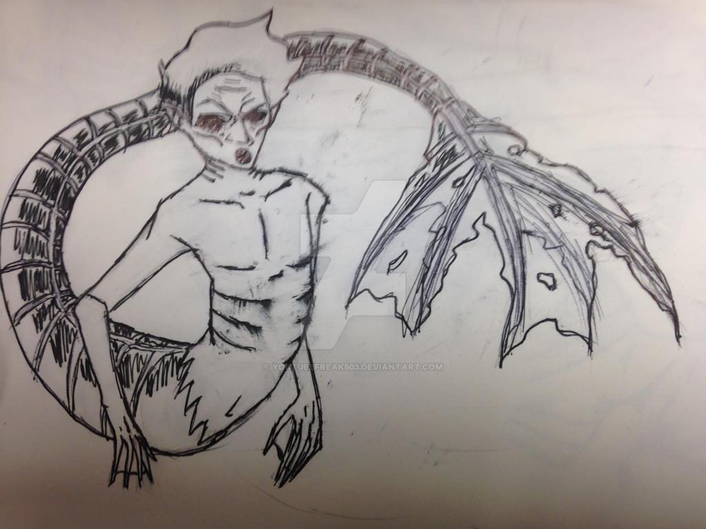 Merman doodle by youtubefreak503