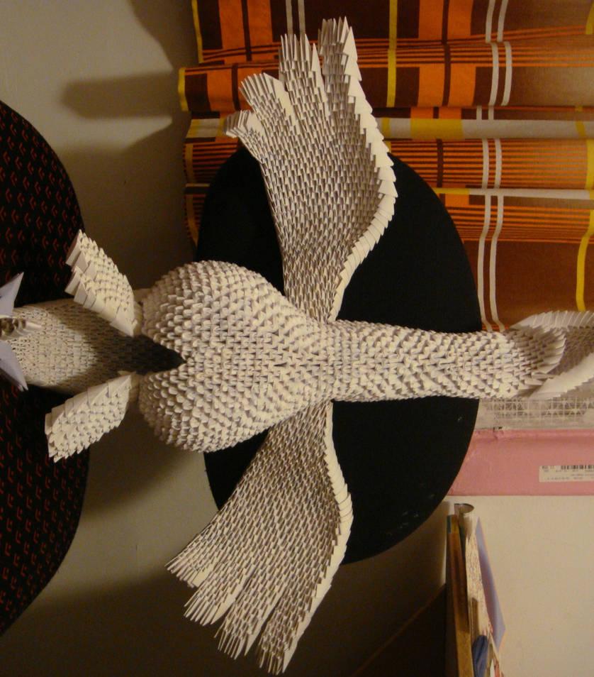 Final 3D origami Lugia by Spkmw