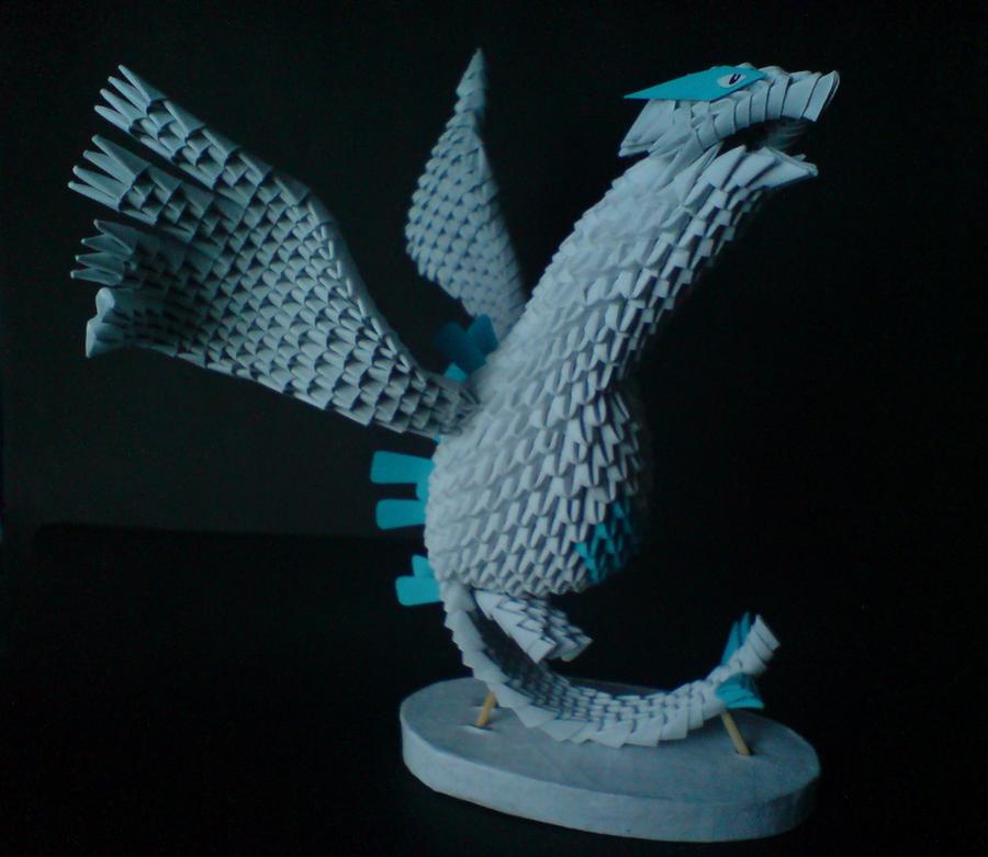 3d origami model lugia by spkmw on deviantart