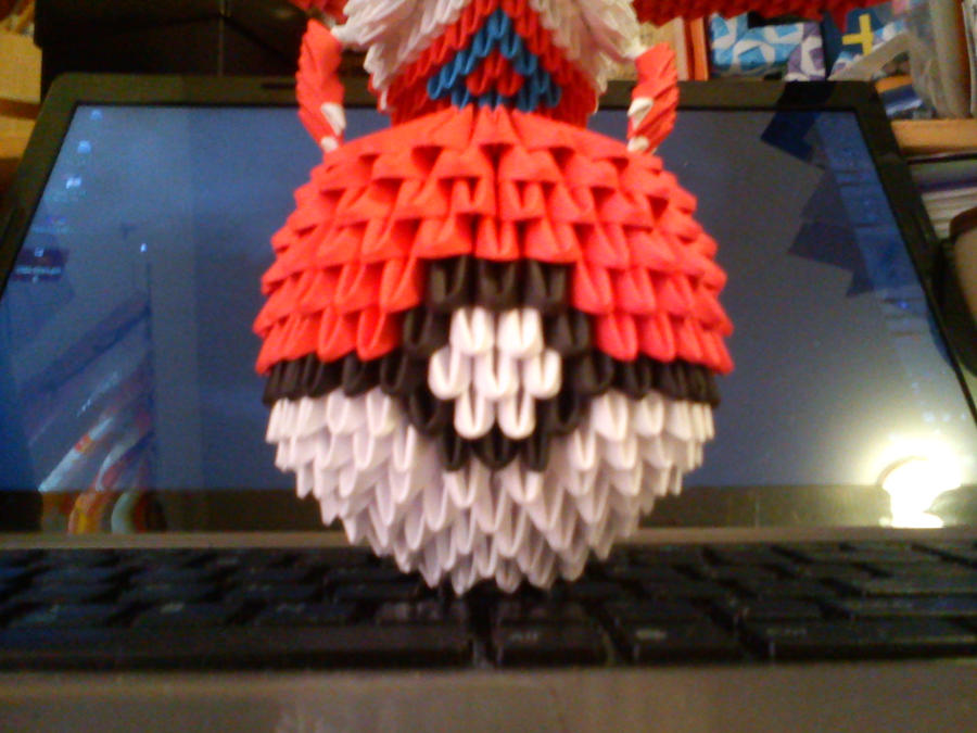 3D Origami Pokeball By Spkmw
