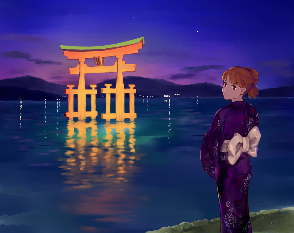 The Gate to Itsukushima by CandideKun