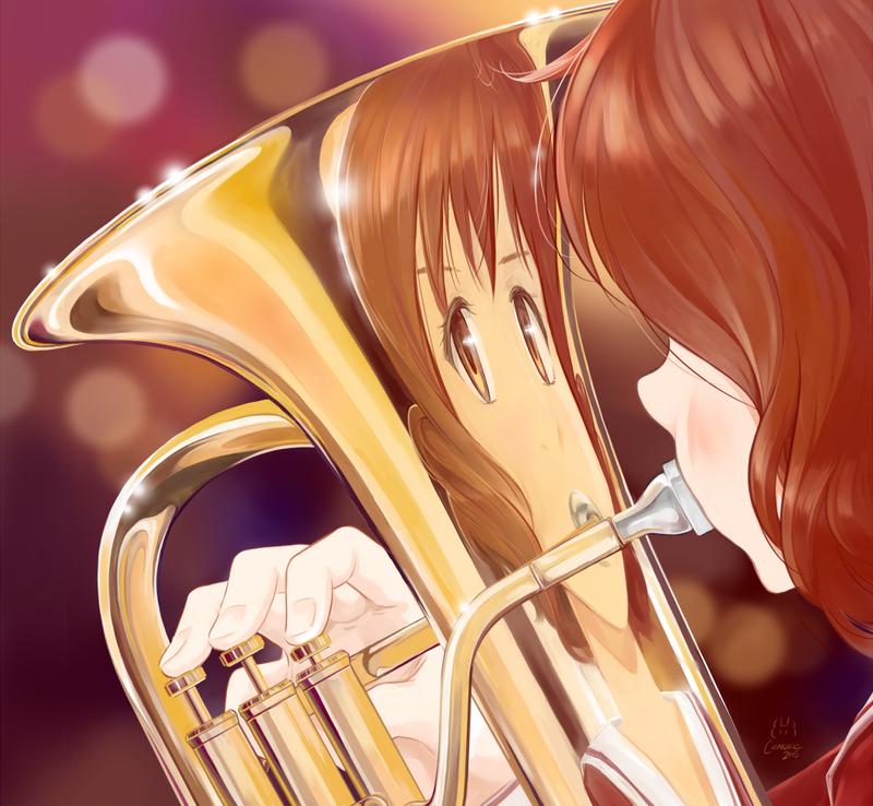 Kumiko and her eupho by CandideKun