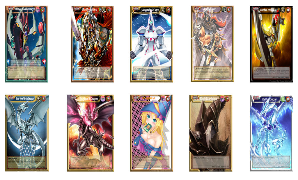 Ygo Pro Full Body Art Work Cards By Tyler Mitchell On Deviantart