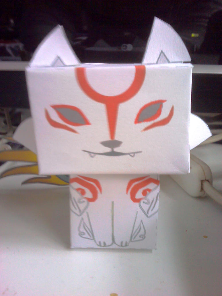 Okami papercraft ! by Merengil