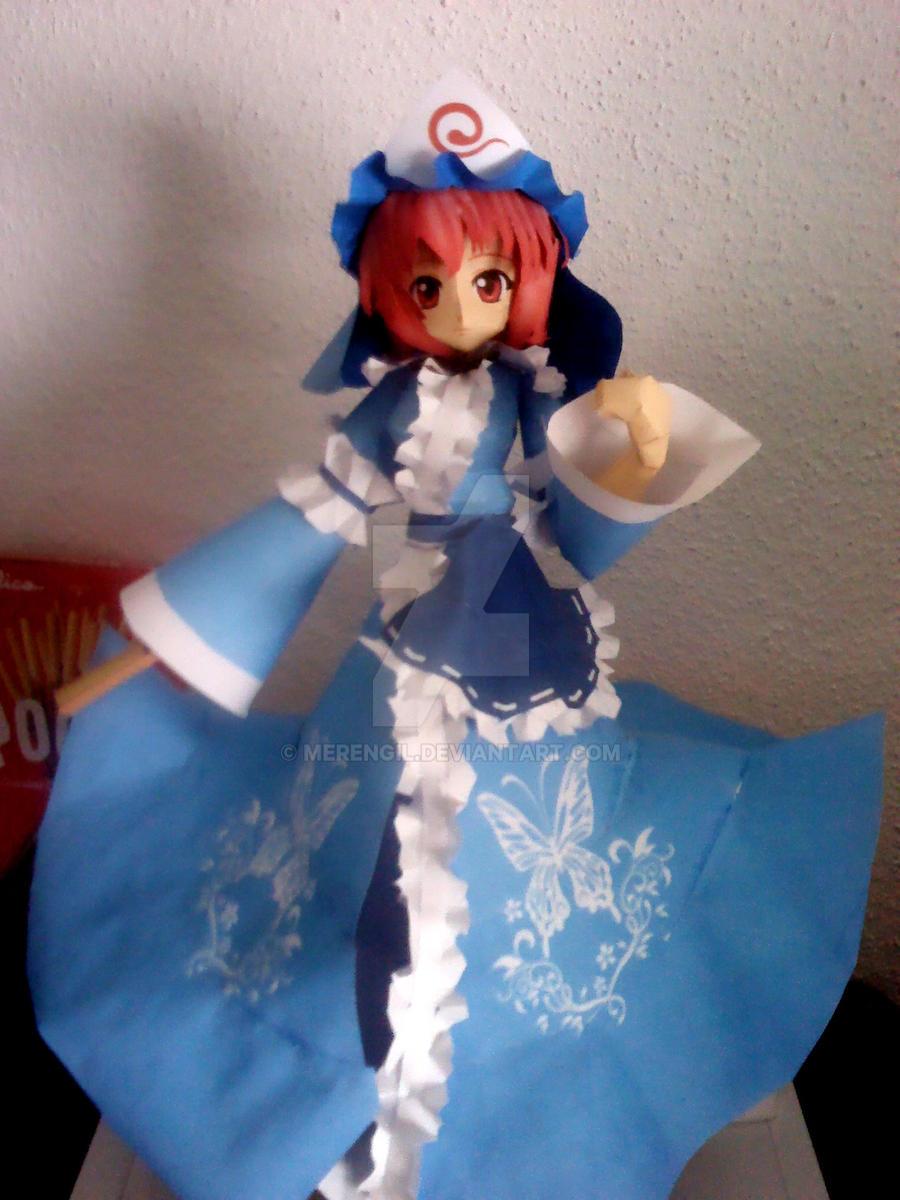 Yuyuko's big Papercraft ! by Merengil