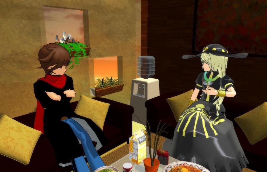 [MMD] Chatting with Karen Yawata by Merengil